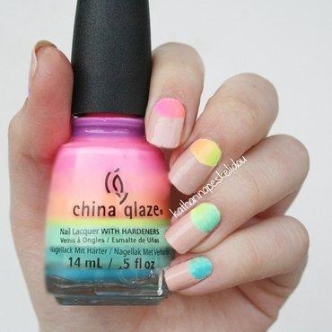 Neon Halfmoon nail art by katharinapeskelidou
