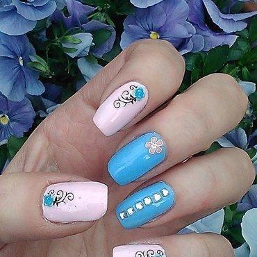 SPRING nail art by Marzena
