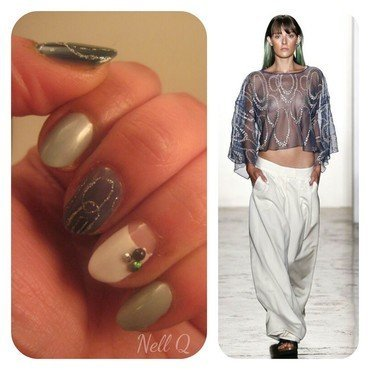 fashion inspired nail art by Nell_Q
