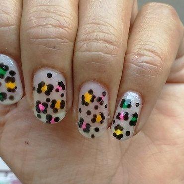 Leopard print nail art by nail nakshi