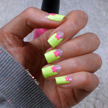 Sweet Halfmoon nail art by Anna
