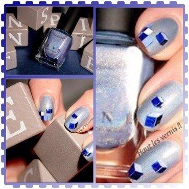 Pixel 3d nail art by Elodie Mayer