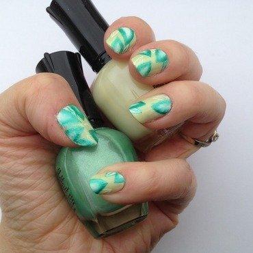 spring leaves nail art by Eleadora