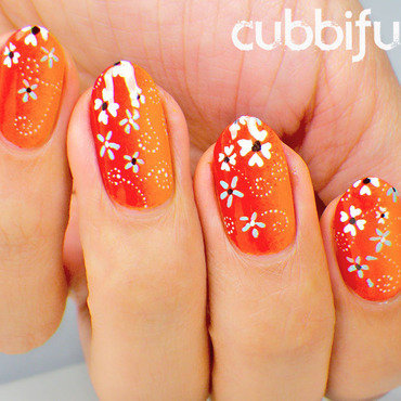 Floral Nail Art for Mother's Day nail art by Cubbiful