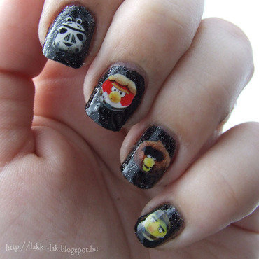 May thw 4th be with you nail art by Barbara P.