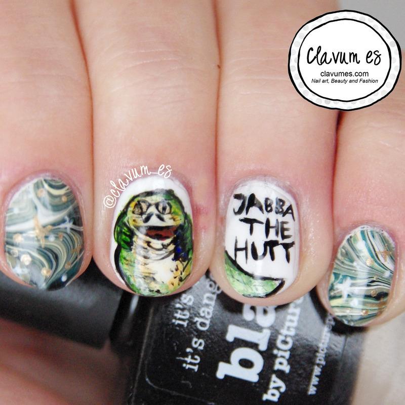Jabba the Hutt Nail Art nail art by Melissa (Clavum Es)