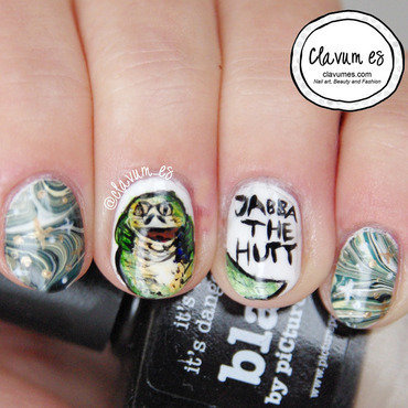 Jabba the Hutt Nail Art nail art by Melissa (Clavum Es)