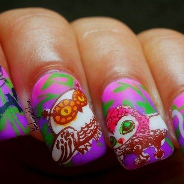 woot woot nail art by Nicky