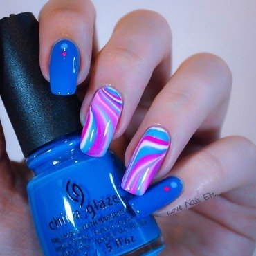 Psychedelic nail art by Love Nails Etc
