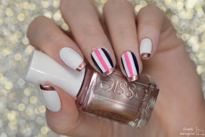 Rose Gold Tipped Classic Nails Nail Art By Simplynailogical