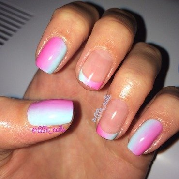 Gradient nail art by Anna Sh