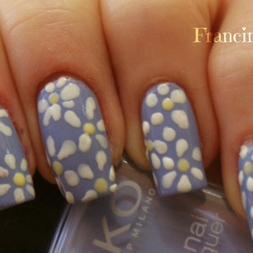 Taurus - He loves me, he loves me not nail art by Francine