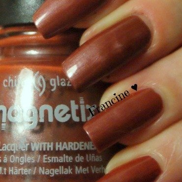 China Glaze Magnetix II Bond-Tastic Swatch by Francine