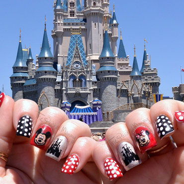Disney Vacation nail art by The Polished Mommy