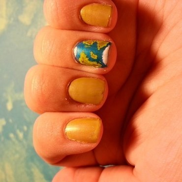 Earth Day 2015 nail art by KiboSanti