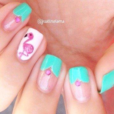 Flamingo  nail art by ℐustine