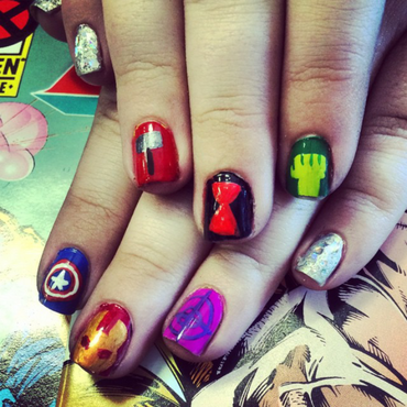 Avengers Age of Ultron nail art by KiboSanti