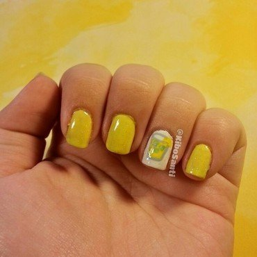 Lemonade nail art by KiboSanti
