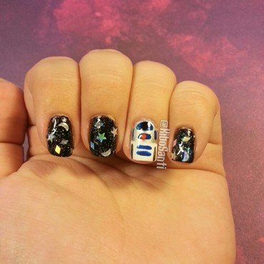 Star Wars Day 2015 nail art by KiboSanti