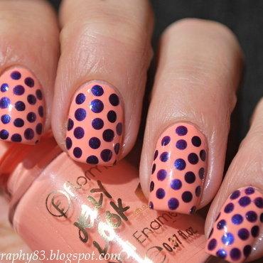 Spring dots nail art by Hana K.