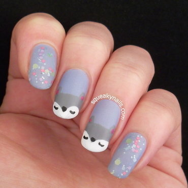 Woodland Plush nail art by Squeaky  Nails