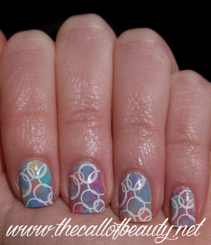 Watercolour  nail art by The Call of Beauty