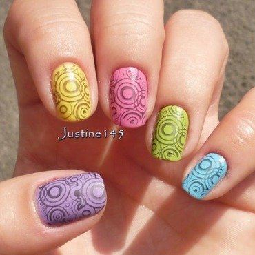 skittle stamping 2 nail art by Justine145