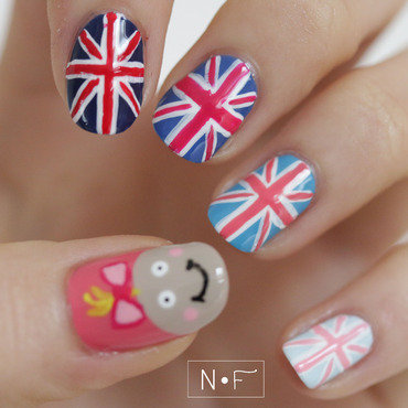 Princess Charlotte Elizabeth Diana nail art by NerdyFleurty