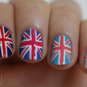 Ombre Union Jack nail art by NerdyFleurty