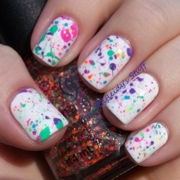 Oh, splatter! nail art by Jenette Maitland-Tomblin