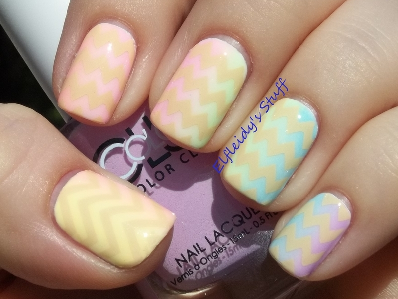 Rainbow Gradient nail art by Jenette Maitland-Tomblin