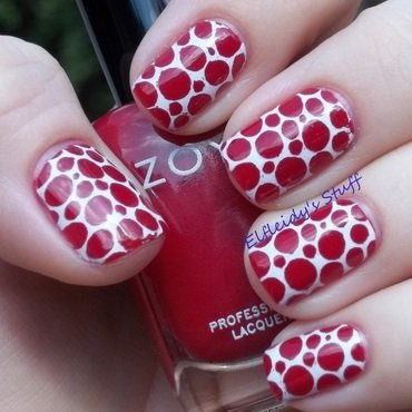 """Spotted"" nail art by Jenette Maitland-Tomblin"