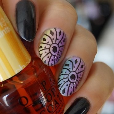 Rainbow wheels! nail art by Cranberry Fairy