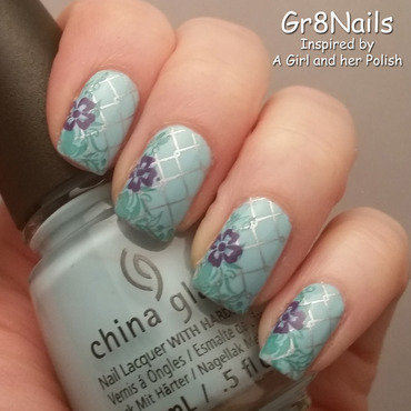 Spring Stamping nail art by Gr8Nails