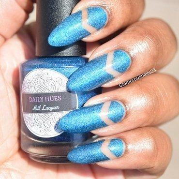Negative Space Chevron  nail art by glamorousnails23