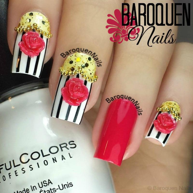 Lolita Rose II nail art by BaroquenNails