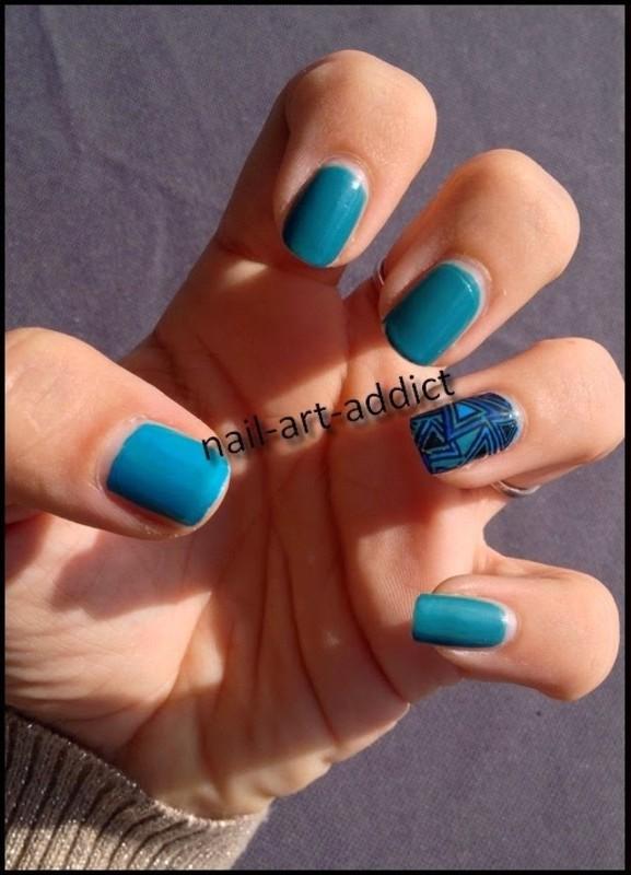Nail Art : Stamping Inversé nail art by SowNails