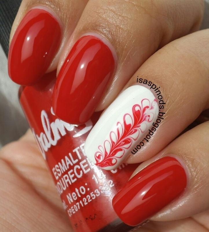 #reto31dias2015 Día 1 - Rojo nail art by Isabel