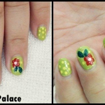 Spring Daisy Flower Nail Art nail art by HerCreativePalace (kanika)