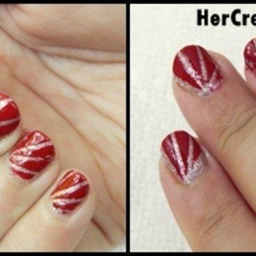 Funky Abstract Zig-Zag Nail Art nail art by HerCreativePalace (kanika)