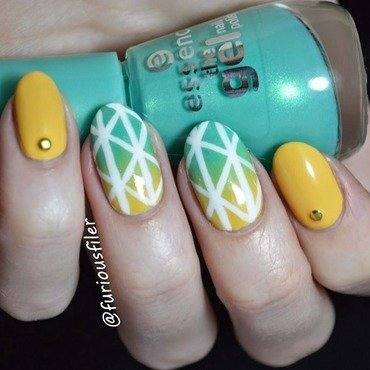 Sun's out guns out! nail art by Furious Filer