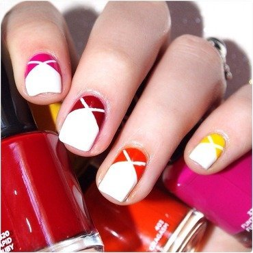 Ombre color block. nail art by Bulleuw
