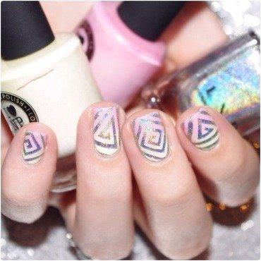 Dégradé printanier ! nail art by Bulleuw