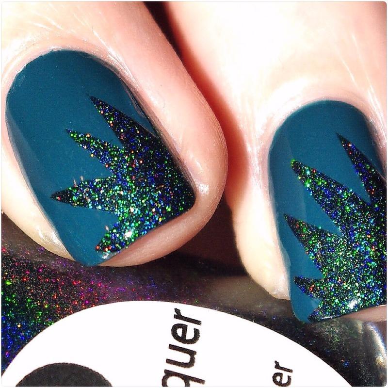 Green ! nail art by Bulleuw