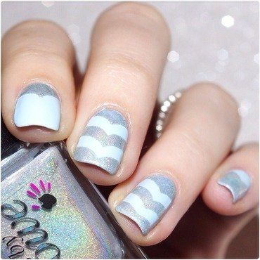 Light Blue! nail art by Bulleuw