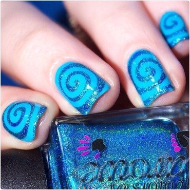 Turquoise ! nail art by Bulleuw