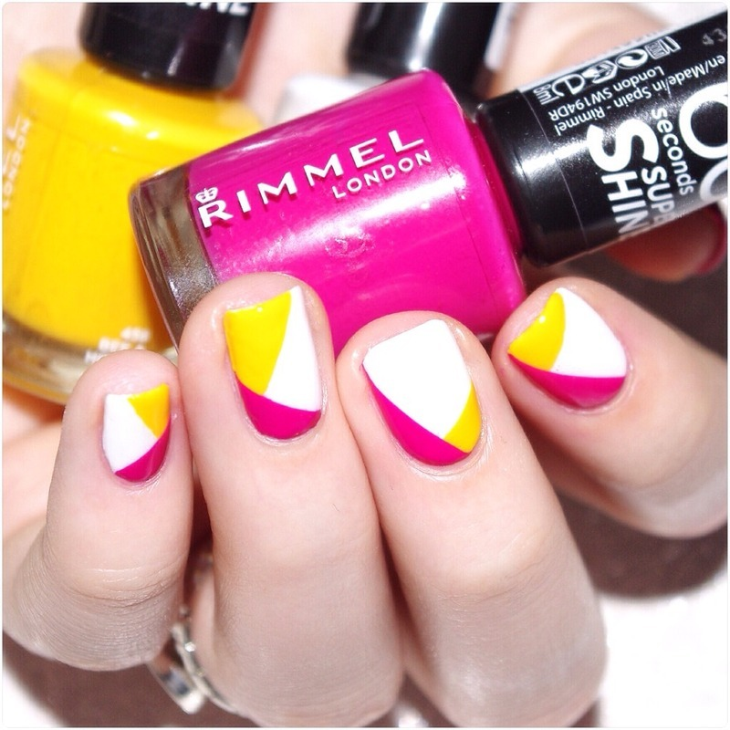 Color block ! nail art by Bulleuw