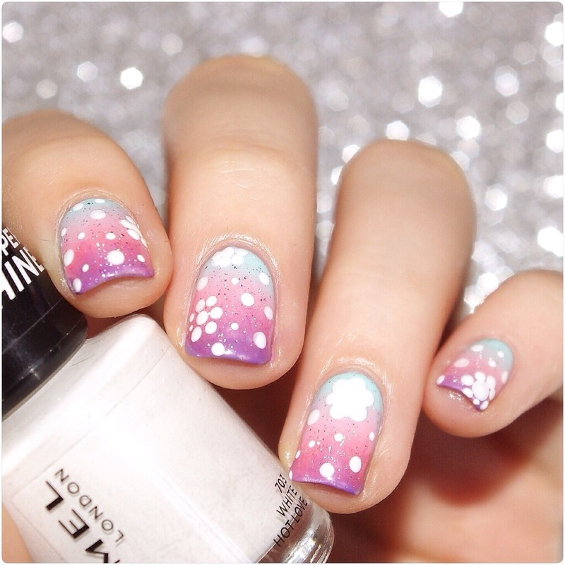 Spring flowers  nail art by Bulleuw
