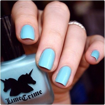 Lime Crime Once in a Blue Mousse Swatch by Bulleuw