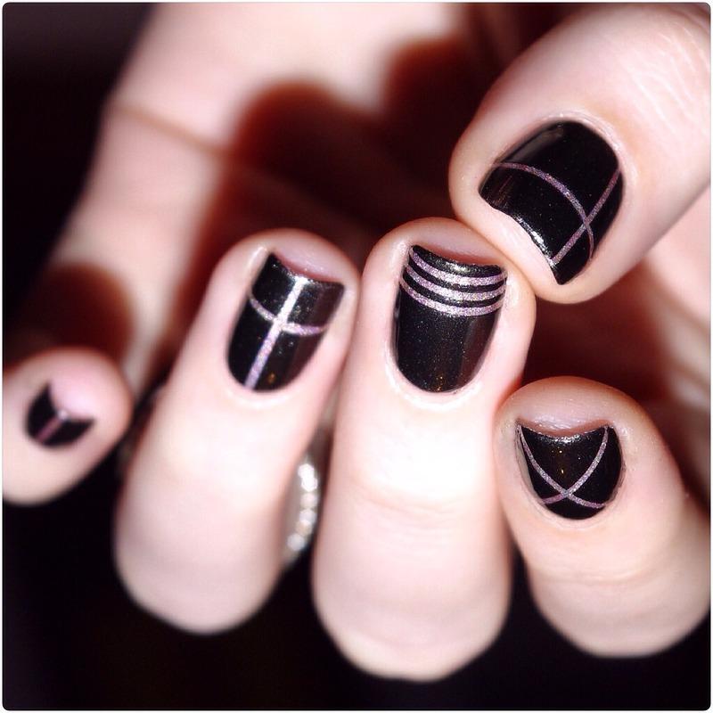 A england / geometric ! nail art by Bulleuw